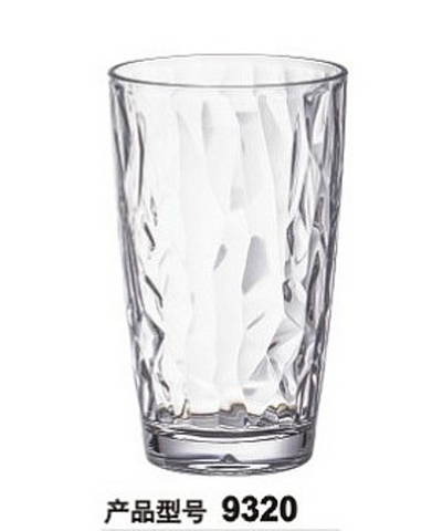 480mL Waves Polycarbonate Water Glass (Clear/Blue)