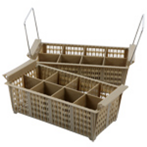 Compartment Cutlery Basket, Brown