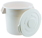 White Polypropylene Bulk Storage Container (10-32 Gallons), Lids Sold Separately