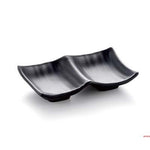 "Matte Black Double Condiment/Sauce Dish (3.5"" x 2.75"")"