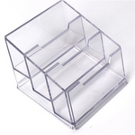 3 Compartment Business Card Holder Stand