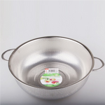 Flat Bottom Stainless Steel Colander with Handles