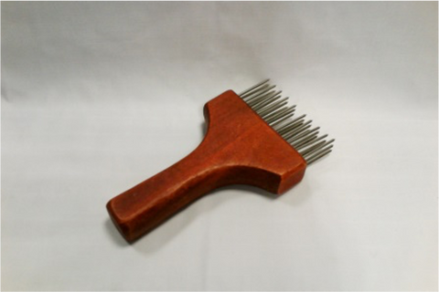 Rectangular Meat Tenderizer with Red Wood