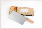 Chinese Cleaver with Wooden Handle