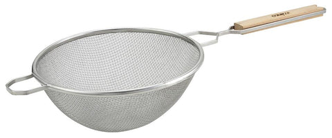 "Stainless Steel 10.5"" Fine Double Mesh Strainer"