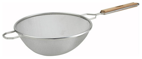 "Stainless Steel Fine Single Mesh Strainer (10.5"" Dia.)"