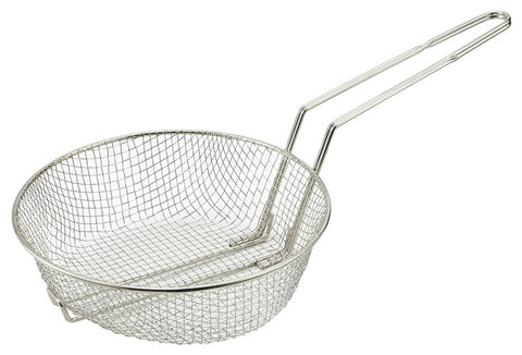 Nickle Plated Steel Culinary Basket with Medium Mesh