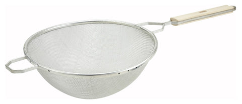 "Nickel Plated Medium Single Mesh Strainer (10.25"" Dia.)"