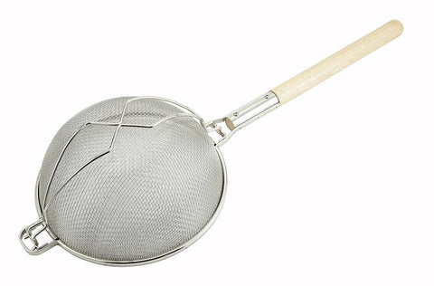 "Nickel Plated Round Double Mesh Reinforced Strainer (12"" Dia.)"