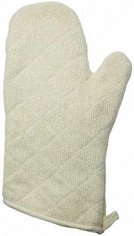 "Heat Resistant Terry Oven Mitts (13""/17""L)"