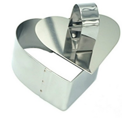 Heart Shaped Ring Mold/Mousse Ring 2 Piece Set