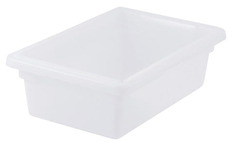 White Polyproplyene Half Size Food Storage Container & Lid