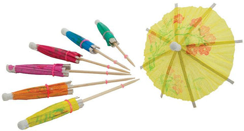 Decorative Pick with MultiColoured Parasols (144 pieces)