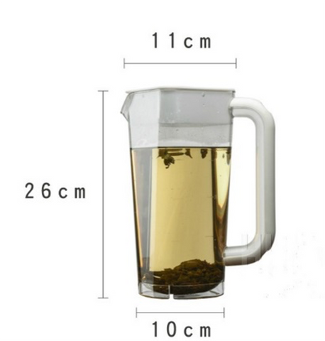 Square Base Clear Polycarbonate Pitcher (2L)