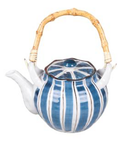 Heritage Ceramic Stripes Teapot