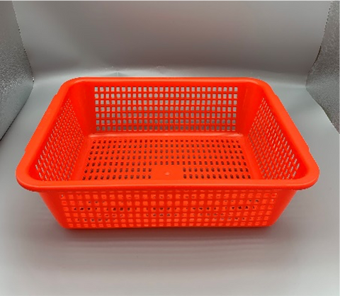 Plastic Square Vegetable Wash Baskets (Small Grid)