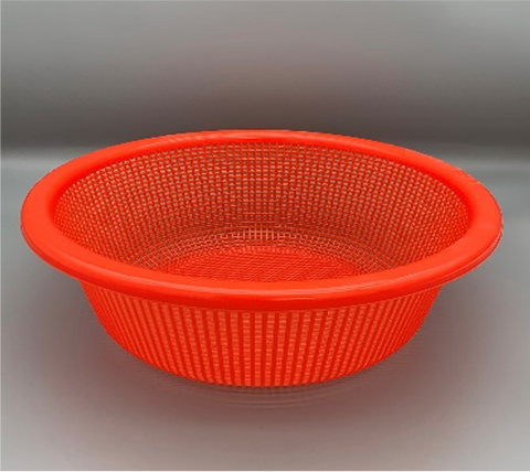 Plastic Round Vegetable Wash Basket (Fine Grid)