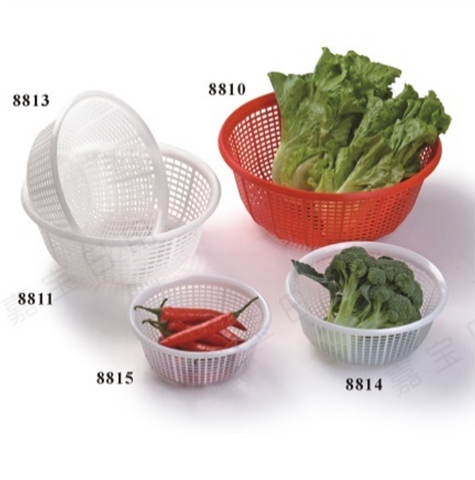 RD8810 Round Plastic Vegetable Wash Basket (Small Grid)