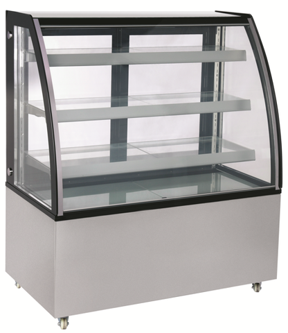 "60"" 3-Tiered Curved Bakery Display Case"