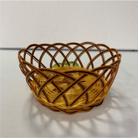 Round Woven Serving Basket (14cmDia x 6cmH)