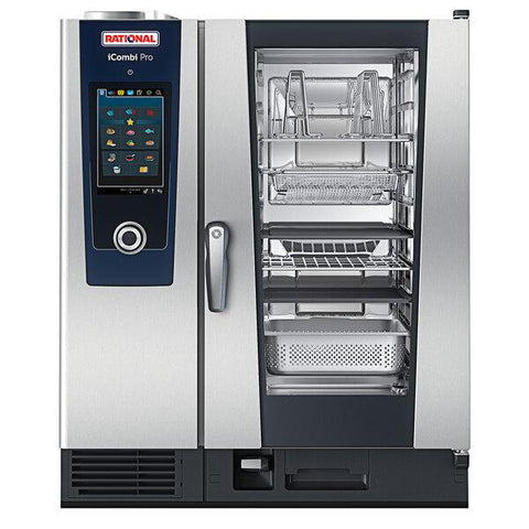 Rational iCombi Pro 10 Pan Half-Size Natural Gas Combi Oven - 208/240, 1 Phase