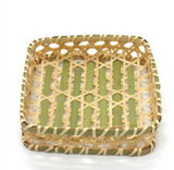 "Square Woven Bamboo Serving Basket (6.5"" - 8"")"