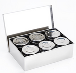 Stainless Steel Sauce/Condiment Box with Round Containers (6 and 9 Units)