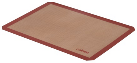 "Red Silicone Non-Stick Baking Mat, Full Size (16-3/8"" x 24-1/2"")"