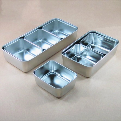 Stainless Steel Sauce/Condiment Box with Rectangular Containers (1-8 Units)