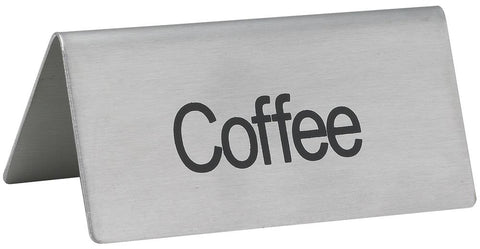 """Coffee"" Tent Sign"