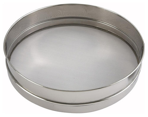 "Sieve, Stainless Steel Rim and Mesh (10"" - 16"" Diameter)"