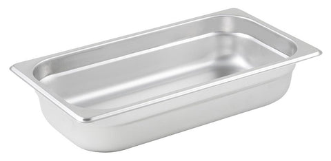 Stainless Steel 25 Gauge Anti-Jam 1/3 Size Steam Table Pan