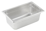 Stainless Steel 25 Gauge Anti-Jam 1/4 Size Steam Table Pan