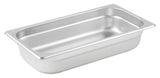 Stainless Steel 23 Gauge Anti-Jam 1/3 Size Steam Table Pan