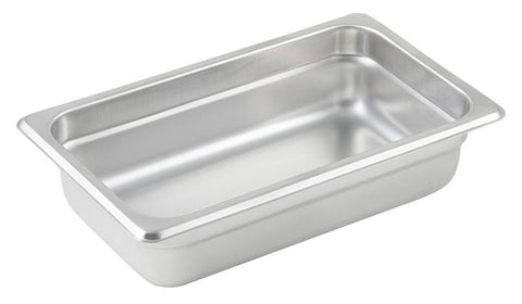 Stainless Steel 23 Gauge Anti-Jam 1/4 Size Steam Table Pan