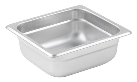 Stainless Steel 23 Gauge Anti-Jam 1/6 Size Steam Table Pan