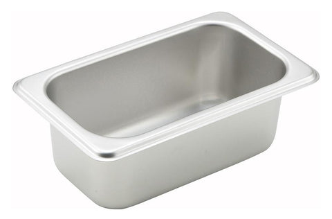 Stainless Steel Straight Sided 1/9 Size Steam Table Pan