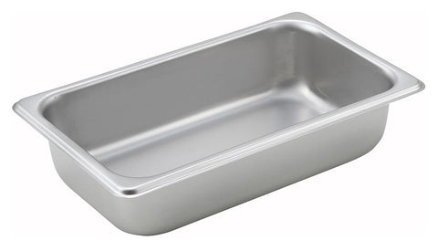 Stainless Steel Straight Sided 1/4 Size Steam Table Pan