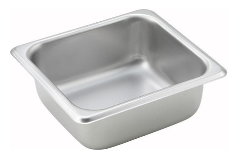 Stainless Steel Straight Sided 1/6 Size Steam Table Pan