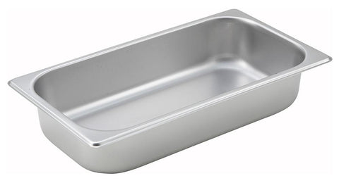 Stainless Steel Straight Sided 1/3 Size Steam Table Pan