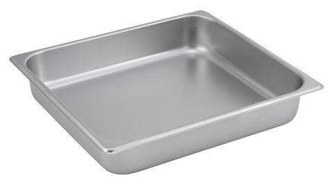Stainless Steel Straight Sided 2/3 Size Steam Table Pan