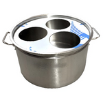 Stainless Steel Stock Pot with Removable Noodle Basket Adapater Plate