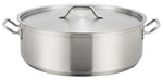 Stainless Steel Brazier with Double Handles and Lid