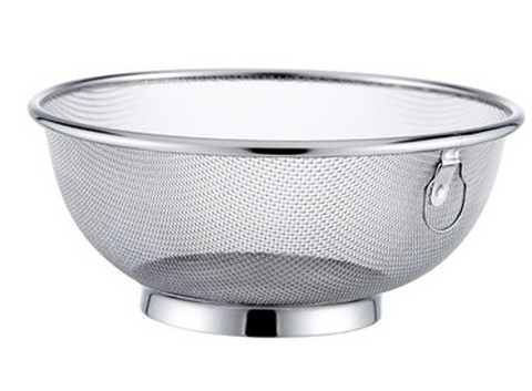 Round Fine Stainless Steel Colander with Reinforced Base and Rim (40cm Dia)