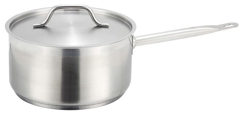 Heavy Duty Stainless Steel Sauce Pot with Lid