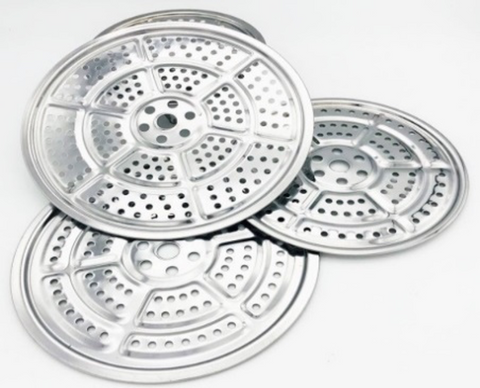 Stainless Steel Perforated Steamer Rack (30cm-54cm Diameter)