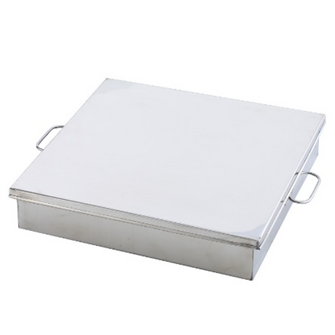 Stainless Steel Rectangular Food Tray (Lid sold separately)