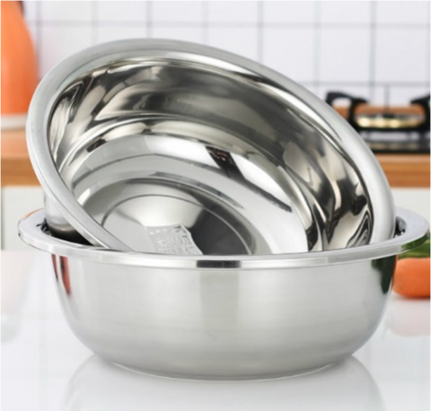 Heavy Weight Flat Bottom Stainless Steel Mixing Bowl