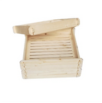 Square Wooden Steamer Set with Lid