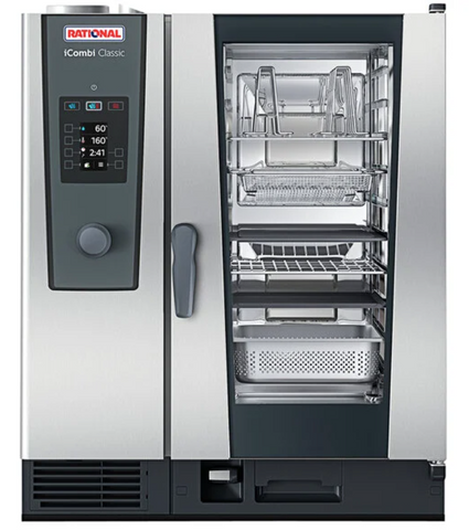 Rational iCombi Classic Single 10-Half Size Natural Gas Combi Oven with ClimaPlus Technology- 120V